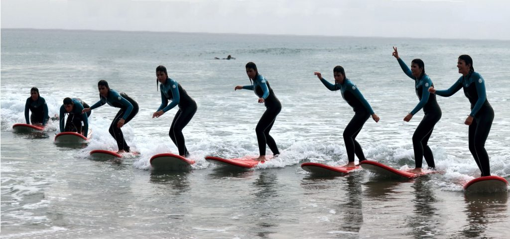 Portugal On Water - Surf School - Surf Student - montage